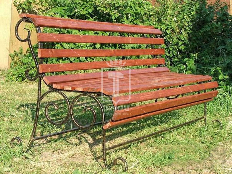 Скамейка садовая из металла своими руками