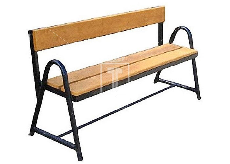 Скамейки со спинкой из металла своими руками