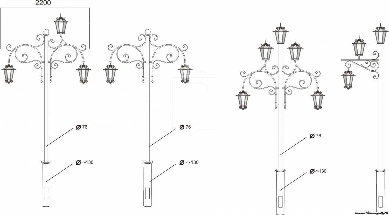 Кованые фонарные столбы своими руками 21