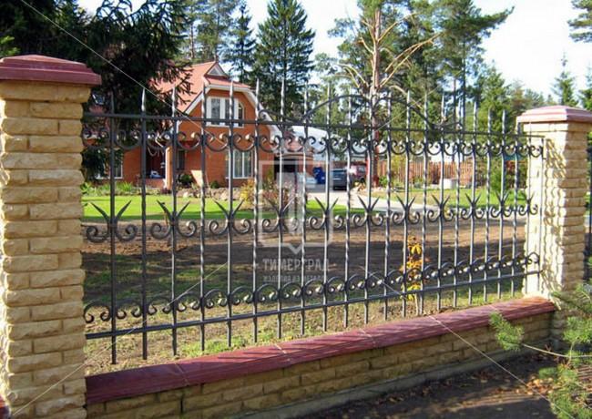 Забор с барашками и скрученными стойками (Арт. 010)