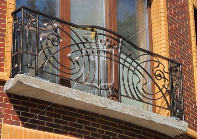 Перила для балкона с дугообразным поручнем (Арт. 045)