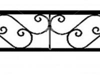 Эскиз ограждения с крупным ажурным узором (Арт. 061)