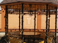 Беседка с купольной крышей и виноградом (Арт. 003)