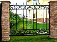 Забор с плавными линиями в верхней и нижней части (Арт. 032)