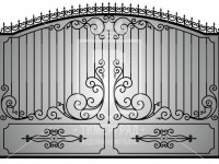 Кованые металлические ворота (Арт. 073)