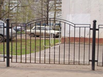 Металлический забор из профильных труб дугой (Арт. 113)