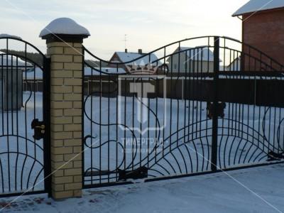 Металлические ворота «Волны». (Арт. 056)