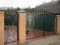 Прозрачные ворота с двумя рядами пик (Арт. 054)