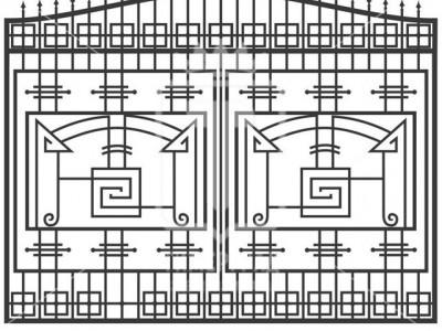 Кованые металлические ворота (Арт. 085)