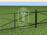 Эскиз газонного ограждения из трекугольников (Арт. 045)