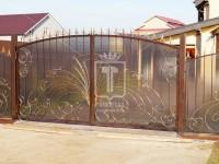 Распашные кованые ворота (Арт. 097)