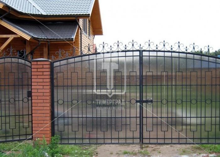Металлические ворота с поликарбонатом (Арт. 088)