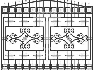 Кованые металлические ворота (Арт. 084)