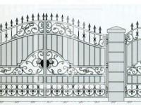 Кованые металлические ворота (Арт. 080)