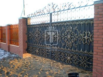 Распашные ворота с восточным орнаментом (Арт. 018)