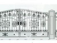 Кованые металлические ворота (Арт. 082)