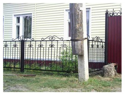 Металлический забор для палисадника  (Арт. 115)