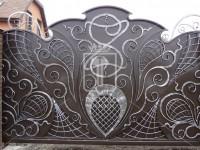 Откатные ворота с серебряными узорами (Арт. 101)