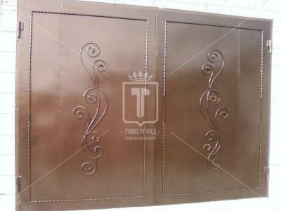 Гаражные ворота с кованым рисунком (Арт. 026)
