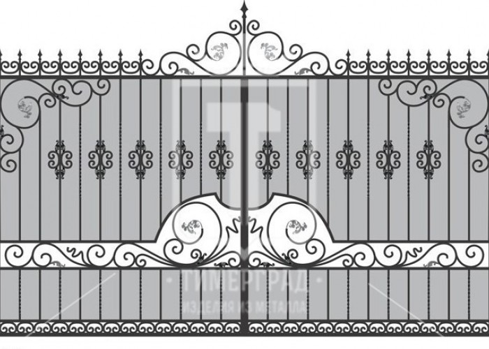 Кованые металлические ворота (Арт. 076)