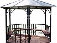 Эскиз беседки со скамейками по периметру (Арт. 047)