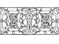 Перила с насыщенными коваными узорами (Арт. 037)
