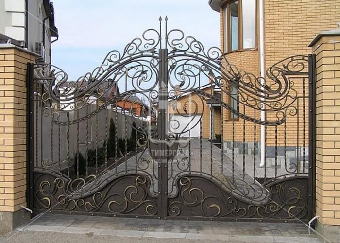 Ажурные ворота в стиле модерн (Арт. 030)