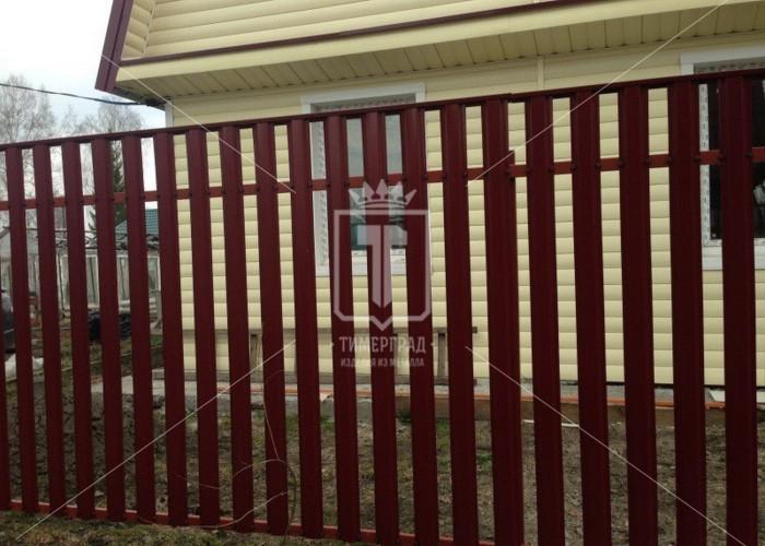 Забор из евроштакетника (Арт. 117)