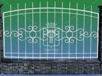 Металлический забор с рисунком по центру (Арт. 100)
