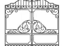 Кованые металлические ворота (Арт. 070)