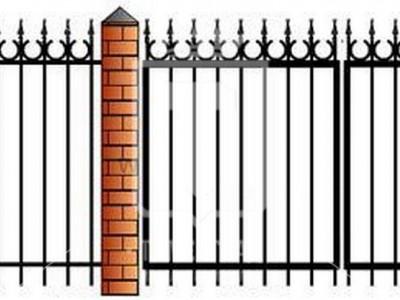 Металлические ворота с полукольцами (Арт. 093)