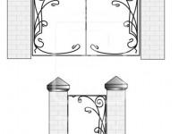 Кованые металлические ворота (Арт. 068)