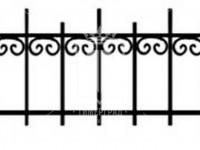 Эскиз ограждения с разновысокими вертикальными стойками (Арт. 059)