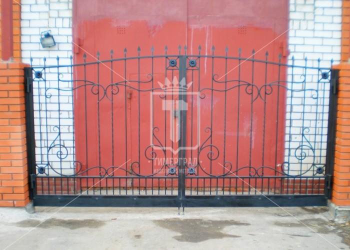 Ворота с цветочками по углам (Арт. 012)