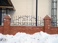 Забор с пиками, обвитыми коваными растениями (Арт. 014)