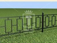 Эскиз ограждения с маленькими стоячими прямоугольниками (Арт. 050)