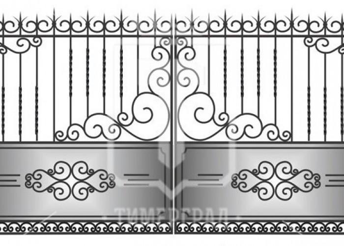 Кованые металлические ворота (Арт. 069)