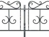 Эскиз низкого газонного ограждения с декоративными элементами на рамке (Арт. 069)