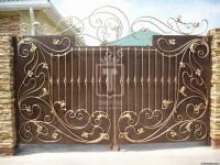 Золотые ворота с красивым несимметричным верхним узором (Арт. 005)