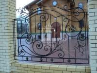 Забор с большими ажурными завитками (Арт. 020)