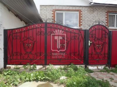 Ворота и калитка с центральными гербами (Арт. 033)