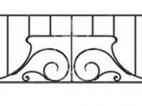 Эскиз ограждения с размашистым узором (Арт. 063)