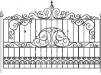 Кованые металлические ворота (Арт. 074)