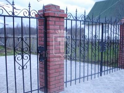 Металлические ворота с холодным гнутьем (Арт. 089)