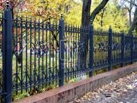 Массивный забор с красивым большим узором (Арт. 039)