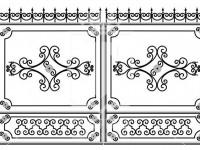 Кованые металлические ворота (Арт. 078)