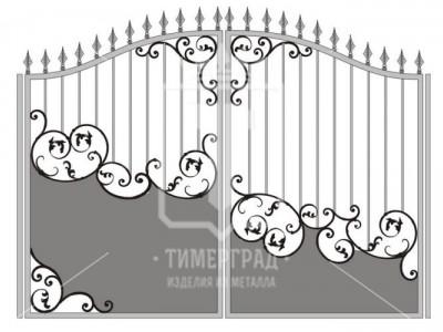 Кованые металлические ворота (Арт. 077)