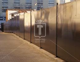Забор с поликарбонатом для Государственной публичной научно-технической библиотеки России